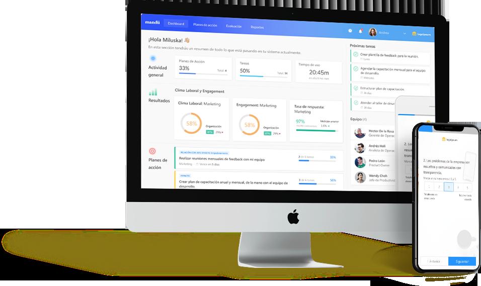 Mandu engagement - Conoce mejor cómo está tu equipo a través de encuestas de CLima Laboral y Engagement